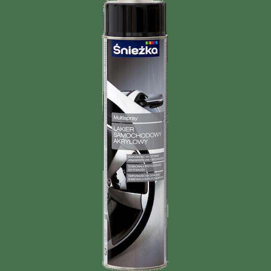 ŚNIEŻKA Multispray Lakier Do Samochodów Akrylowy czarny 0,6 L