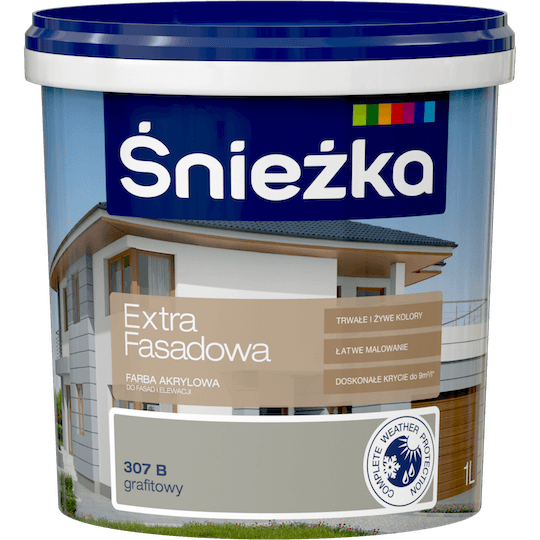 ŚNIEŻKA Extra Fasadowa grafitowy C 1 L