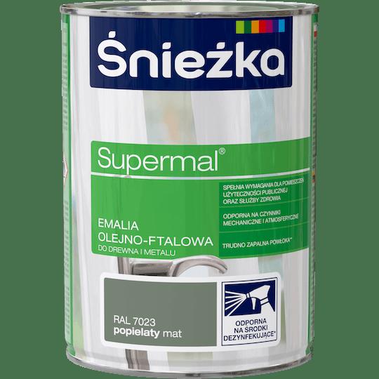 ŚNIEŻKA Supermal® Emalia Olejno-ftalowa Mat RAL7023 0,8 L