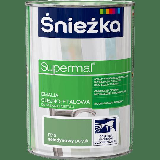 ŚNIEŻKA Supermal® Emalia Olejno-ftalowa Połysk seledynowy 0,8 L