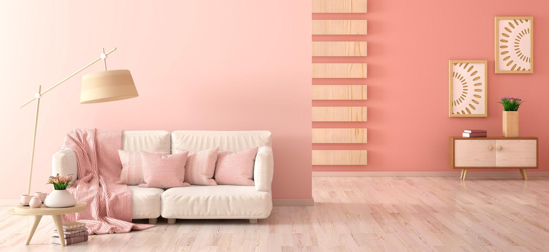 Pastelowe kolory ścian we wnętrzu