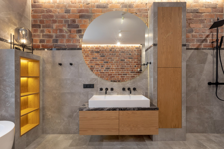 Mała łazienka w bloku, poznaj styl loftowy