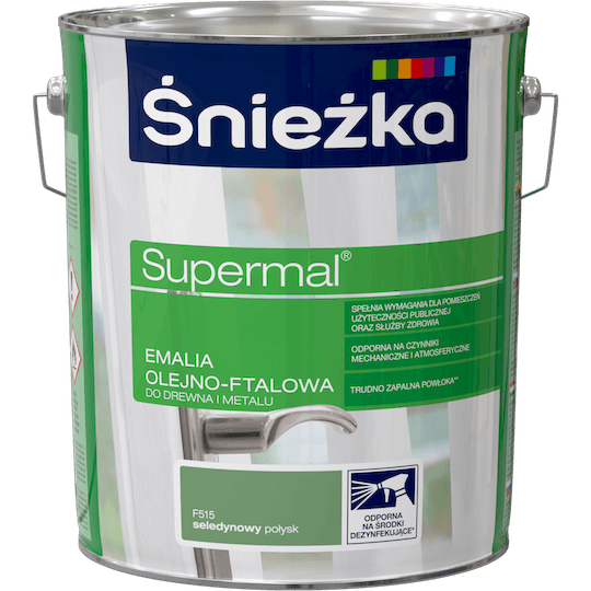 Śnieżka Supermal Oil and Alkyd Enamel aquamarine 10 L