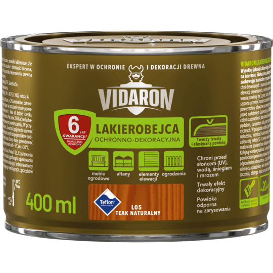 Vidaron Stain & Varnish natural teak 0,4 L