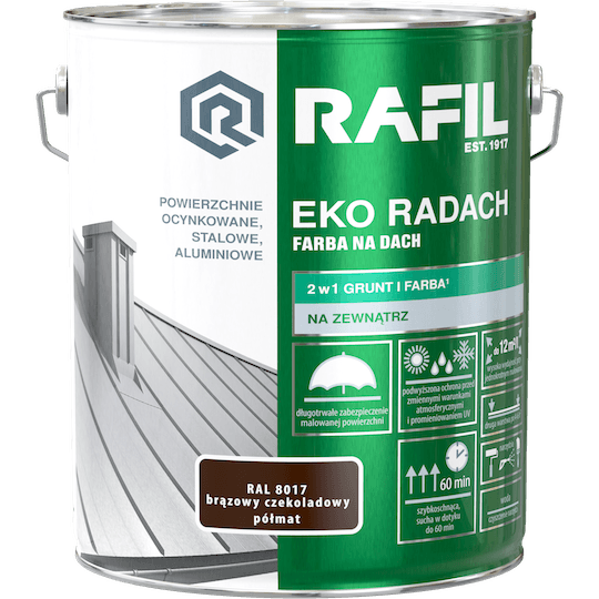 RAFIL Eko-Radach Farba Na Dach RAL8017