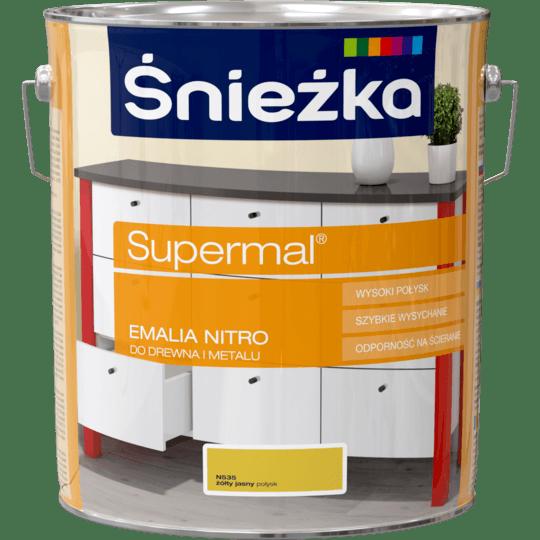 ŚNIEŻKA Supermal® Emalia Nitro połysk żółty jasny 10 L