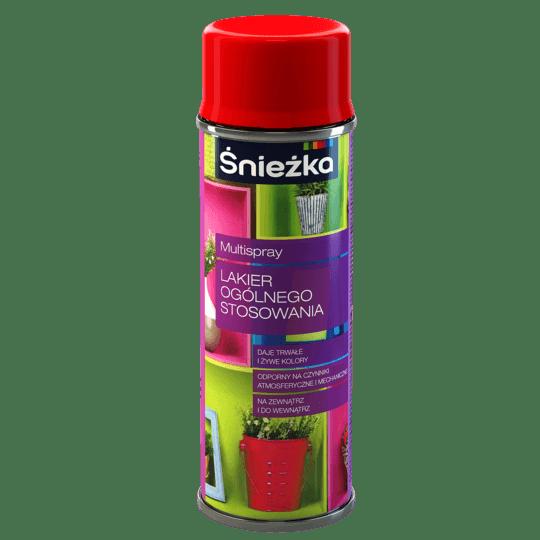 ŚNIEŻKA Multispray Lakier Ogólnego Stosowania RAL3000 0,4 L