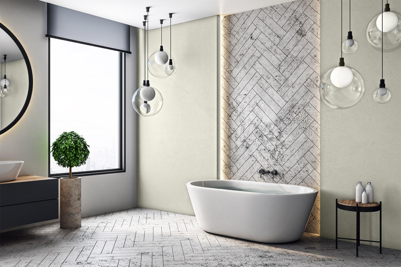 Styl loftowy - MAGNAT Ceramic Kitchen&Bathroom B6 śnieżny agat