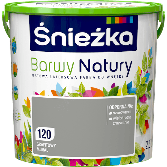 Śnieżka Colours of Nature графитовый мурал 2,5 Л