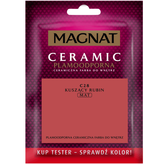 MAGNAT Ceramic - Tester Do Malowania kuszący rubin 0,03 L