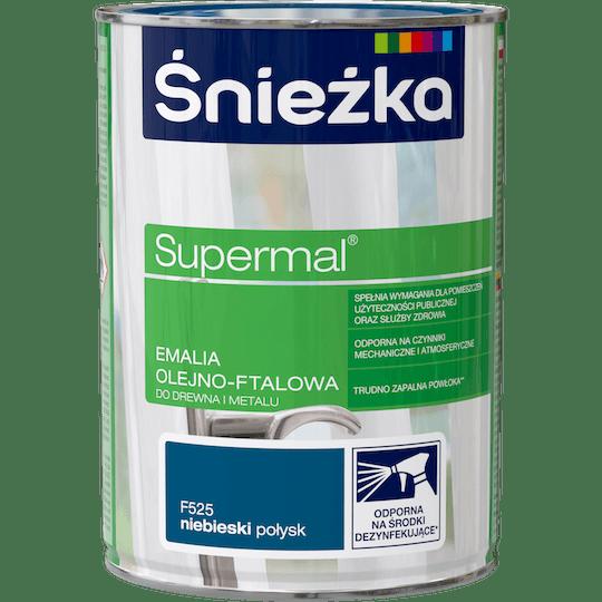 ŚNIEŻKA Supermal® Emalia Olejno-ftalowa Połysk niebieski 0,8 L