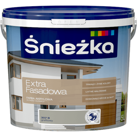 ŚNIEŻKA Extra Fasadowa grafitowy B 5 L