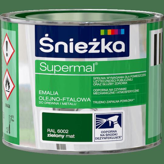 Śnieżka Supermal Oil and Alkyd Enamel RAL6002 0,2 L