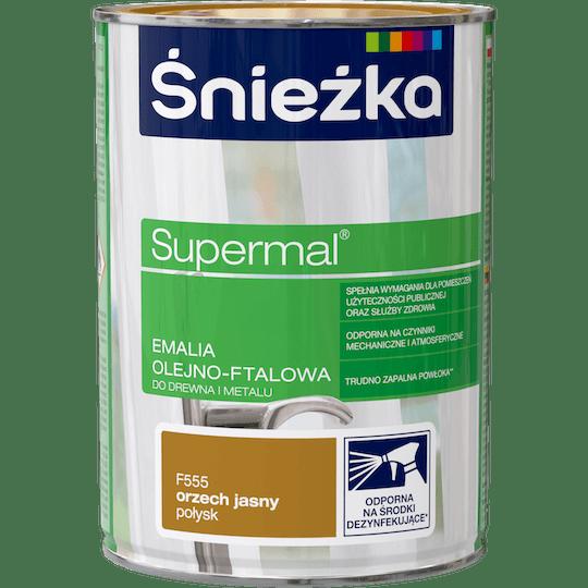 Śnieżka Supermal Oil and Alkyd Enamel light walnut 0,8 L