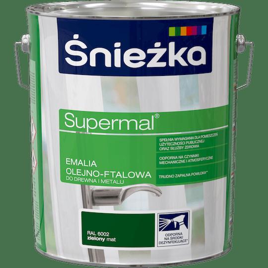 ŚNIEŻKA Supermal® Emalia Olejno-ftalowa Mat RAL6002 10 L