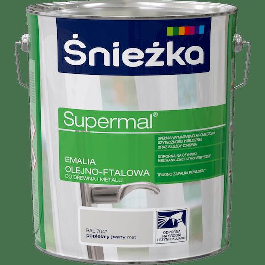 ŚNIEŻKA Supermal® Emalia Olejno-ftalowa Mat RAL7047 10 L
