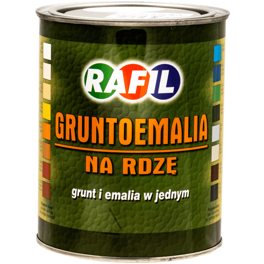 RAFIL Gruntoemalia Na Rdzę RAL7040 0,8 L