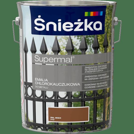ŚNIEŻKA Supermal® Emalia Chlorokauczukowa RAL8024 5 L