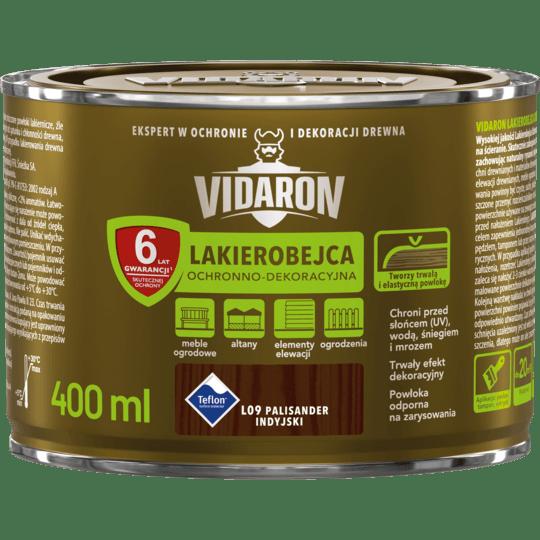 VIDARON Lakierobejca Ochronno-Dekoracyjna palisander indyjski 0,4 L
