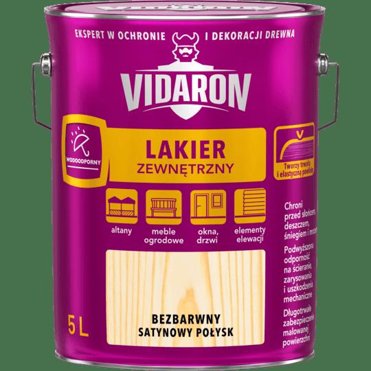 VIDARON Lakier Zewnętrzny bezbarwny 5 L