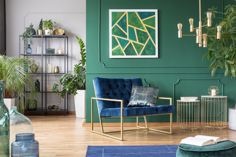 Modne kolory ścian w odcieniach zieleni