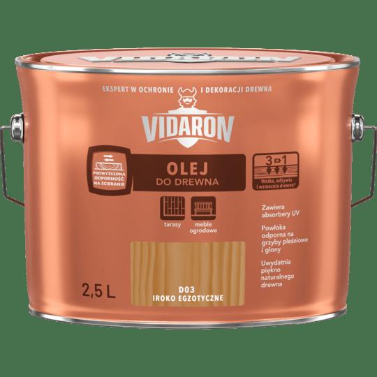 VIDARON Olej Do Drewna iroko egzotyczne 2,5 L