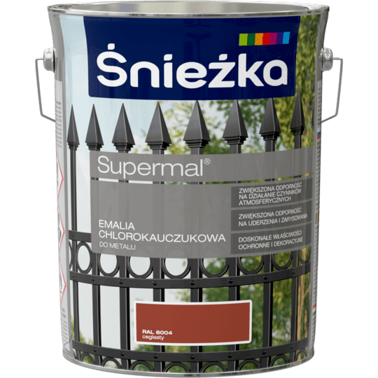 ŚNIEŻKA Supermal® Emalia Chlorokauczukowa RAL8004 5 L