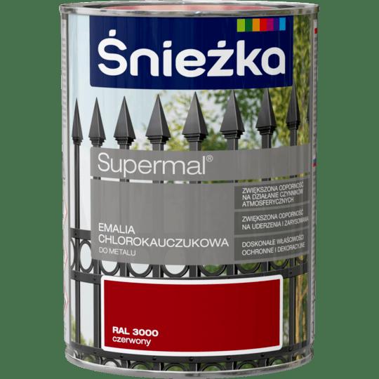 ŚNIEŻKA Supermal® Emalia Chlorokauczukowa RAL3000 0,9 L