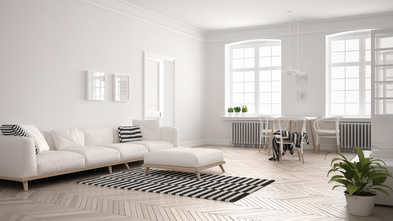 Jak pomalować minimalistyczny salon?