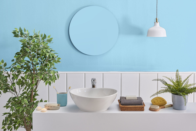 Niebieska łazienka - MAGNAT Ceramic Kitchen&Bathroom B14 bystry tanzanit