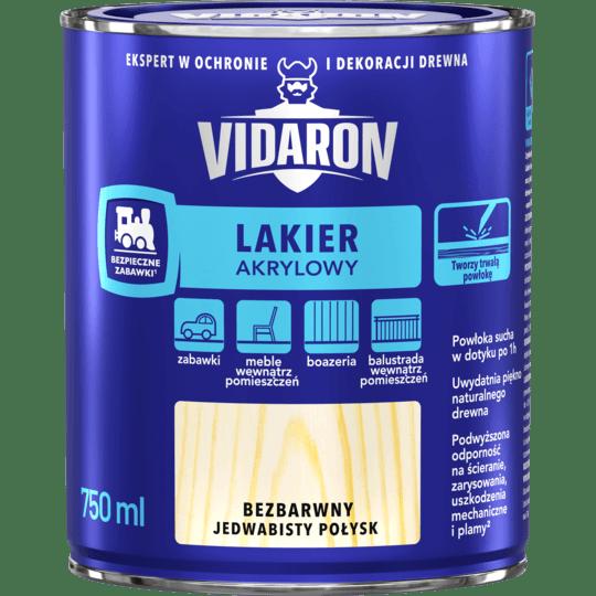 VIDARON Lakier Akrylowy bezbarwny 0,75 L