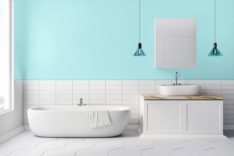 Niebieska łazienka - MAGNAT Ceramic Kitchen&Bathroom B17 morski akwamaryn