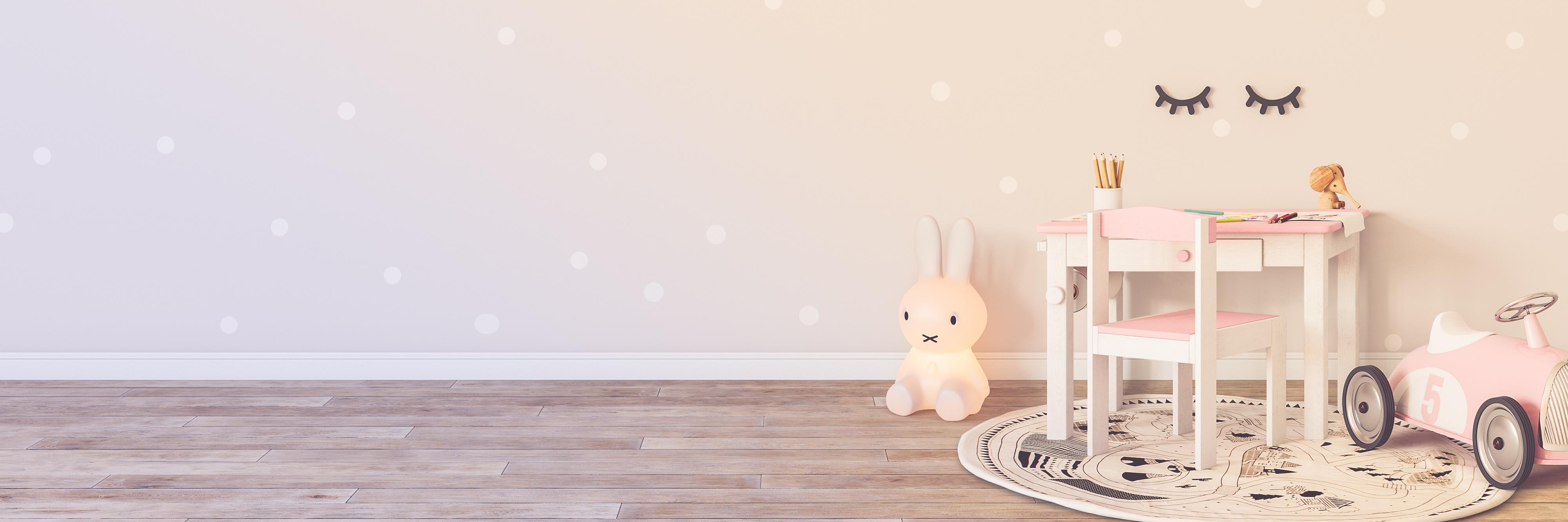 Ombre na ścianie w pokoju dziecka