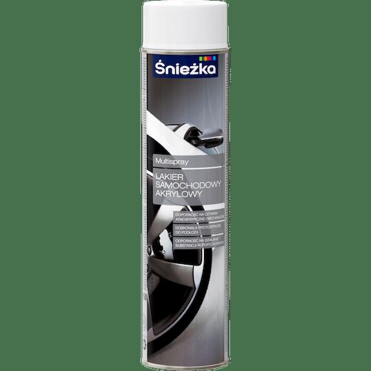 ŚNIEŻKA Multispray Lakier Do Samochodów Akrylowy biały 0,6 L