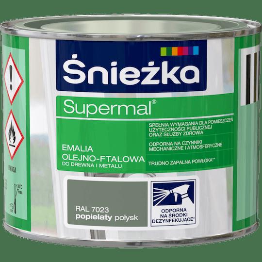 ŚNIEŻKA Supermal® Emalia Olejno-ftalowa Połysk RAL7023 0,2 L