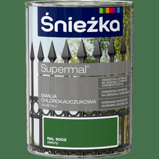 ŚNIEŻKA Supermal® Emalia Chlorokauczukowa RAL6002 0,9 L