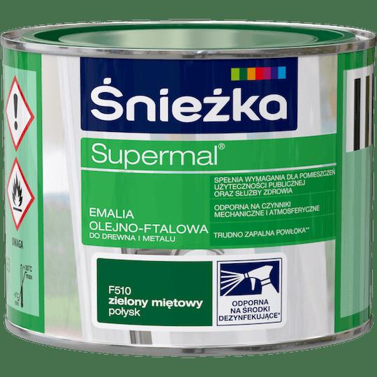 Śnieżka Supermal Oil and Alkyd Enamel green mint 0,2 L