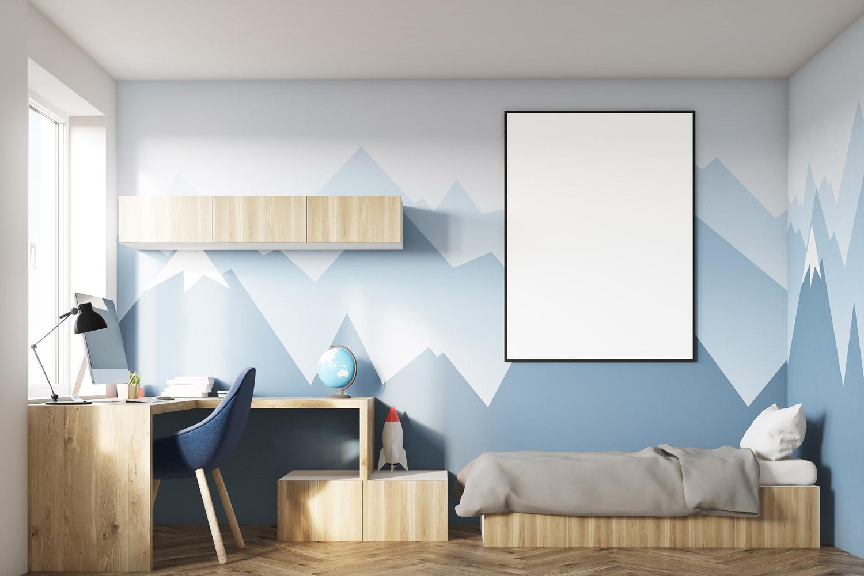 Jak namalować góry w pokoju dziecka?