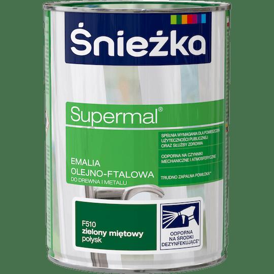 ŚNIEŻKA Supermal® Emalia Olejno-ftalowa Połysk zielony mięta 0,8 L