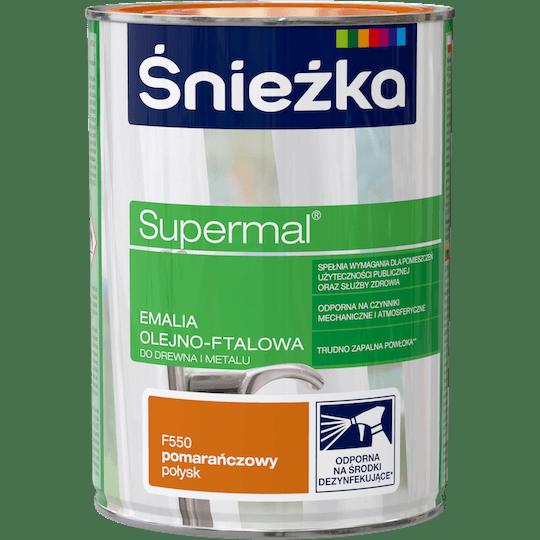 ŚNIEŻKA Supermal® Emalia Olejno-ftalowa Połysk pomarańczowy 0,8 L