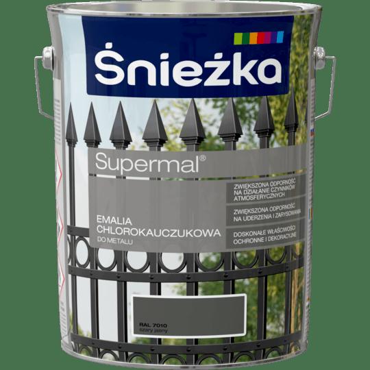 ŚNIEŻKA Supermal® Emalia Chlorokauczukowa RAL7010 5 L