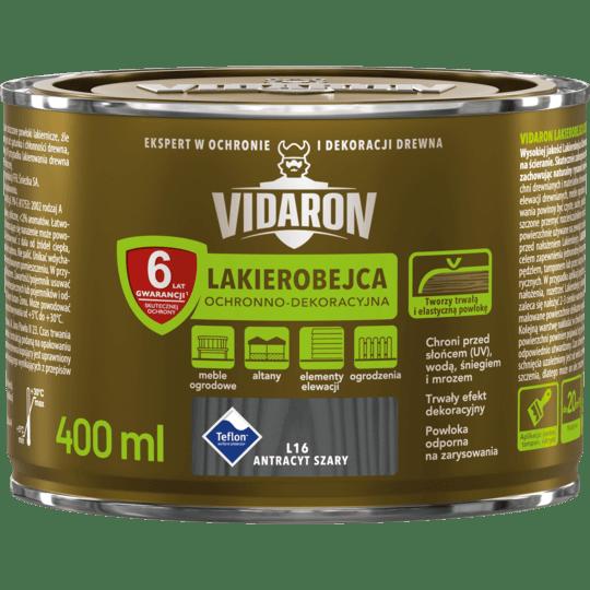 VIDARON Lakierobejca Ochronno-Dekoracyjna antracyt szary 0,4 L