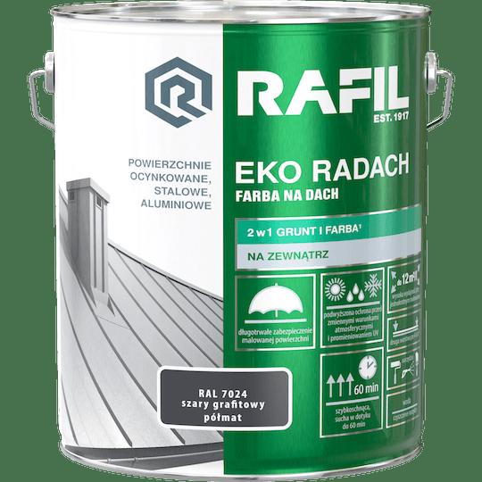 RAFIL Eko-Radach Farba Na Dach RAL7024