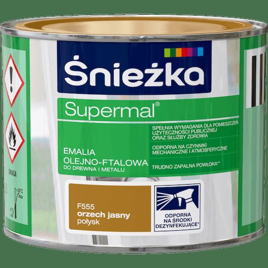 ŚNIEŻKA Supermal® Emalia Olejno-ftalowa Połysk orzech jasny 0,2 L