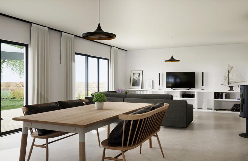 Salon z kominkiem i telewizorem ̶ jak dobrać kolory ścian.jpg