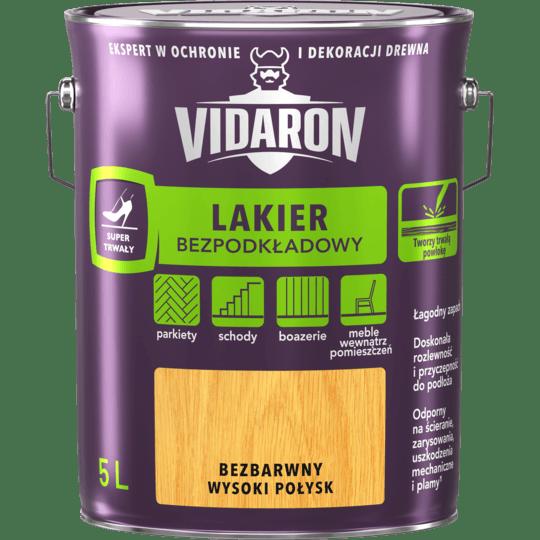 VIDARON Lakier Bezpodkładowy bezbarwny wysoki połysk 5 L