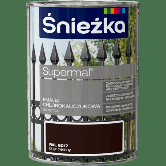 ŚNIEŻKA Supermal® Emalia Chlorokauczukowa RAL8017 0,9 L