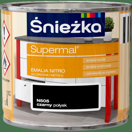 ŚNIEŻKA Supermal® Emalia Nitro połysk czarny 0,2 L