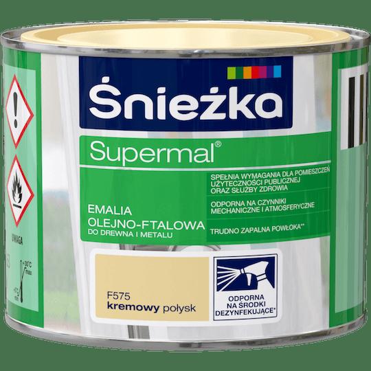 ŚNIEŻKA Supermal® Emalia Olejno-ftalowa Połysk kremowy 0,2 L