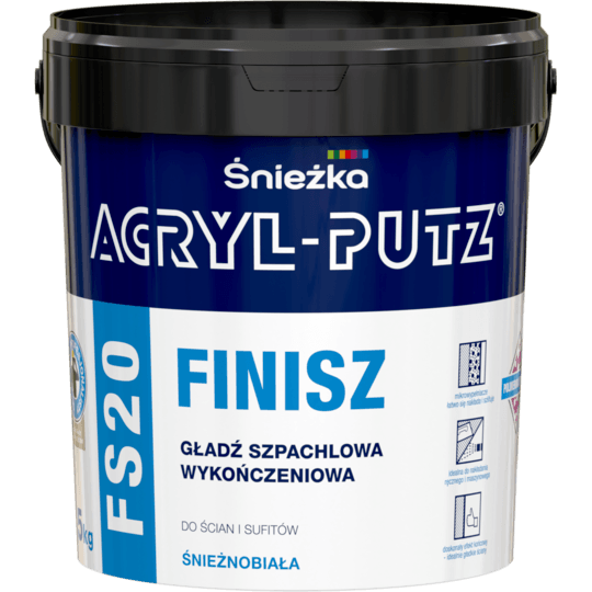 ŚNIEŻKA Acryl-Putz® FS20 Finisz biały 1,5 kg